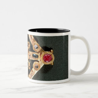 Brooch in the form of a Greek cross Two-Tone Coffee Mug