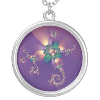 Brooche Round Pendant Necklace