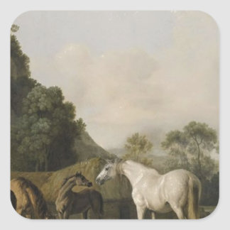 Brood Mares and Foals by George Stubbs Square Sticker