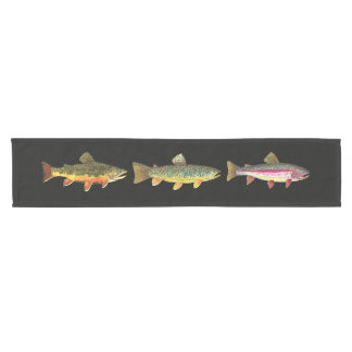 Brook, Brown and Rainbow Trout Short Table Runner