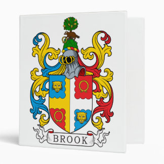 Brook Family Crest 3 Ring Binder