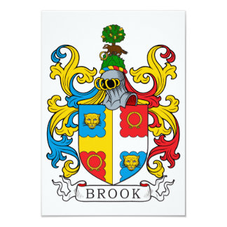 Brook Family Crest Card
