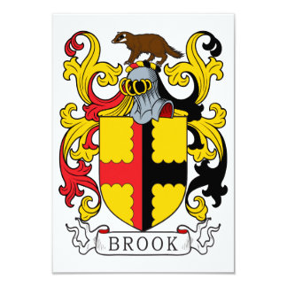 Brook Family Crest Custom Announcements