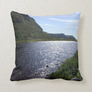 """""""Brook in the Mountains"""" Newfoundland Throw Pillow"""