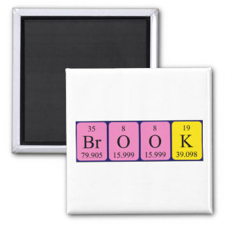 Brook periodic table name magnet