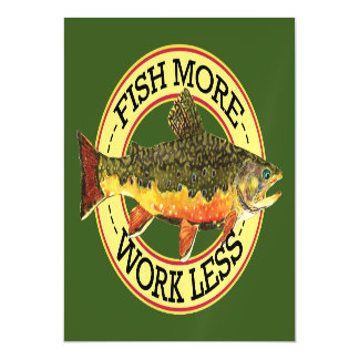 Brook Trout Angling Magnetic Card