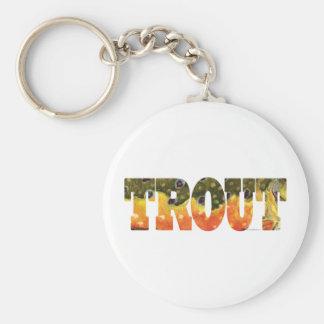 Brook Trout Art Basic Round Button Keychain