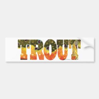Brook Trout Art Bumper Stickers