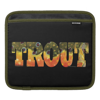 Brook Trout Art Sleeves For iPads