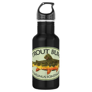 Brook Trout Bum Humorous Fly Fishing Water Bottle