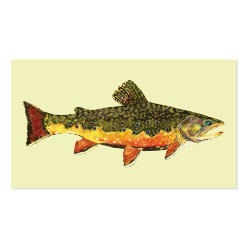 Brook Trout Fish Business Card Template