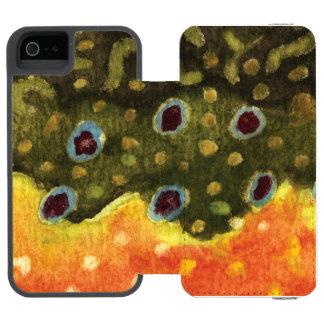 Brook Trout Fish iPhone SE/5/5s Wallet Case