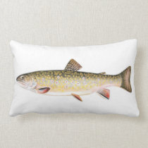 Brook Trout Fish Lumbar Pillow