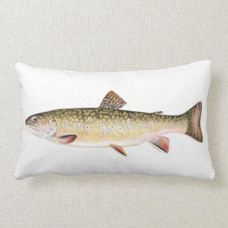 Brook Trout Fish Lumbar Pillow