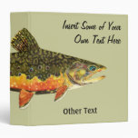 Brook Trout Fish Painting 3 Ring Binders