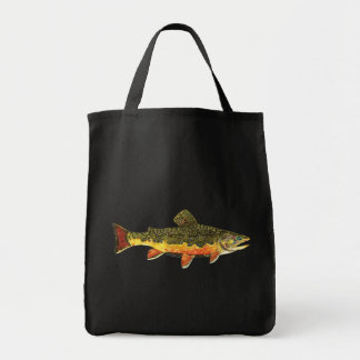 Brook Trout Fish Painting Tote Bag