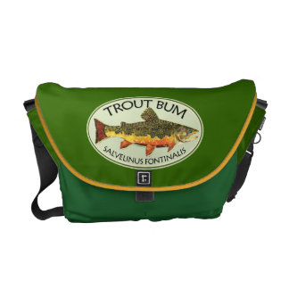 Brook Trout Fish Painting Courier Bag