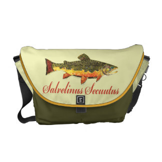 Brook Trout Fish Painting Commuter Bag