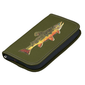 Brook Trout Fish Painting Folio Planner