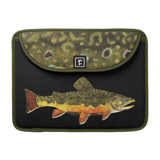 Brook Trout Fish Painting Sleeve For MacBooks
