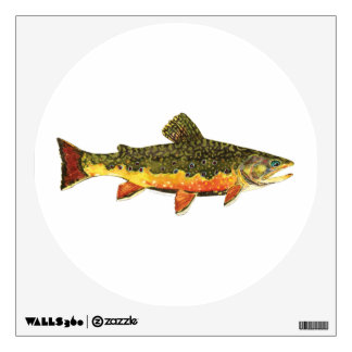 Brook Trout Fish Painting Wall Decal