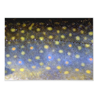 Brook Trout Fish Scales Party Card