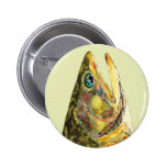 Brook Trout Fisherman 2 Inch Round Button