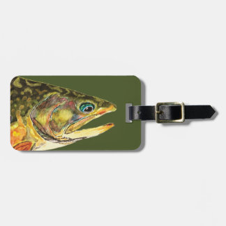 Brook Trout Fisherman Luggage Tag