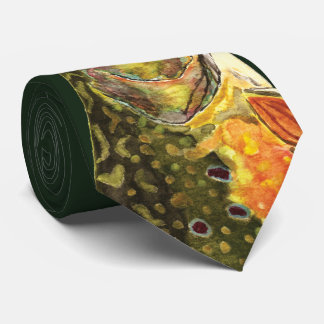 Brook Trout Fisherman Neck Tie