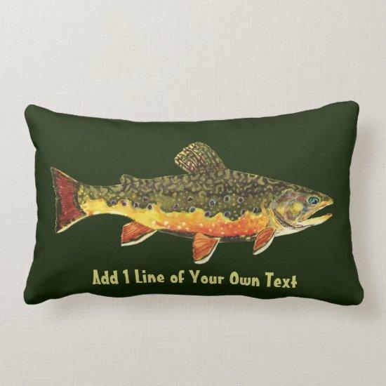 Brook Trout Fisherman's Lumbar Pillow