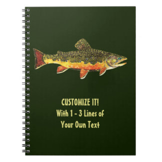 Brook Trout Fisherman's Spiral Notebook
