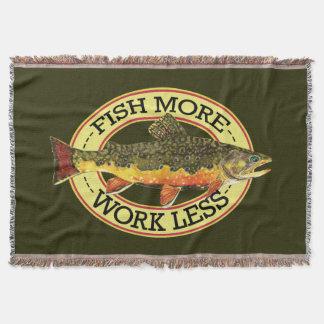 Brook Trout Fisherman's Throw Blanket