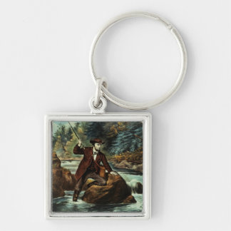 Brook Trout Fishing - An Anxious Moment, 1862 Keychains