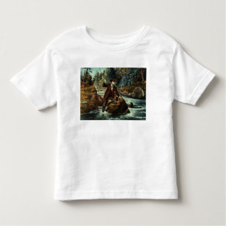 Brook Trout Fishing - An Anxious Moment, 1862 T-shirts