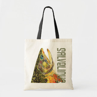 Brook Trout Fishing Budget Tote Bag