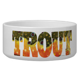 Brook Trout Fishing Bowl