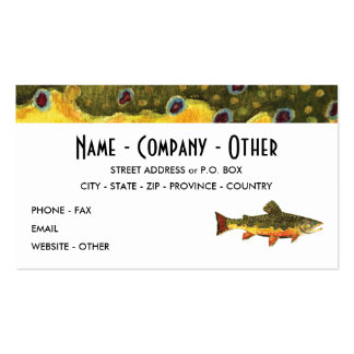 Brook Trout Fishing Business Card