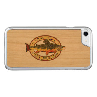 Brook Trout Fishing C and R Carved iPhone 7 Case