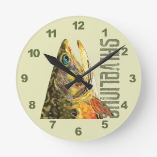 Brook Trout Fishing Wallclocks
