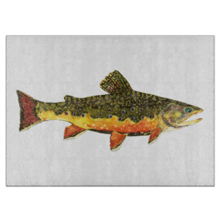 Brook Trout Fishing Cutting Board