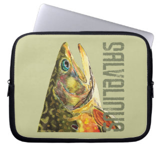 Brook Trout Fishing Laptop Sleeve