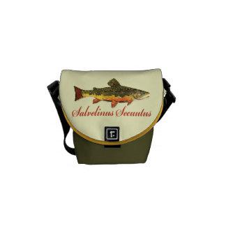 Brook Trout Fishing Messenger Bag