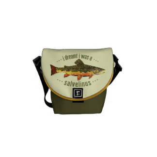 Brook Trout Fishing Messenger Bags
