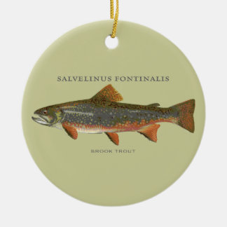 Brook Trout Fishing Ornaments