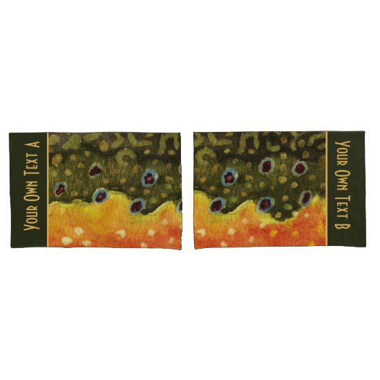 Brook Trout Fishing Pillow Case