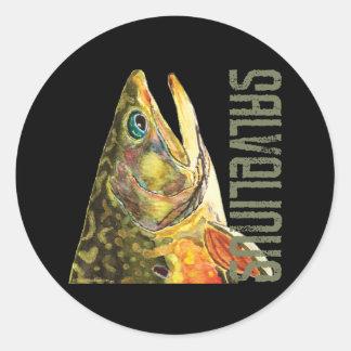 Brook Trout Fishing Round Sticker