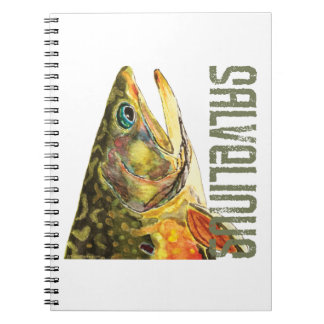 Brook Trout Fishing Spiral Notebook