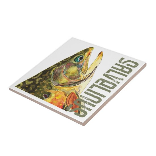 Brook Trout Fishing Tile