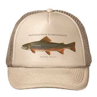 Speckled trout hats zazzle for Trout fishing hat
