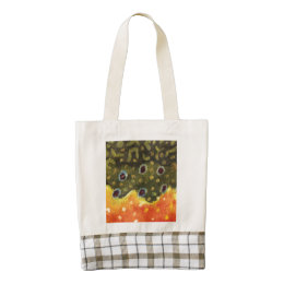 Brook Trout Fishing Zazzle HEART Tote Bag